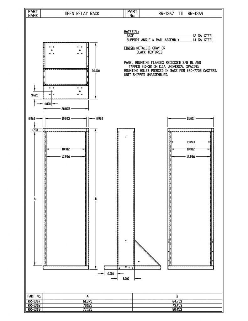 RR-1367-BT Dimensions