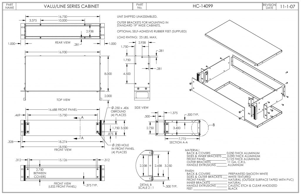HC-14099 Dimensions