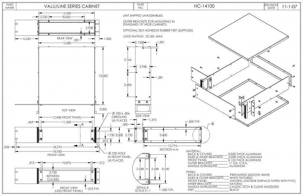 HC-14100 Dimensions