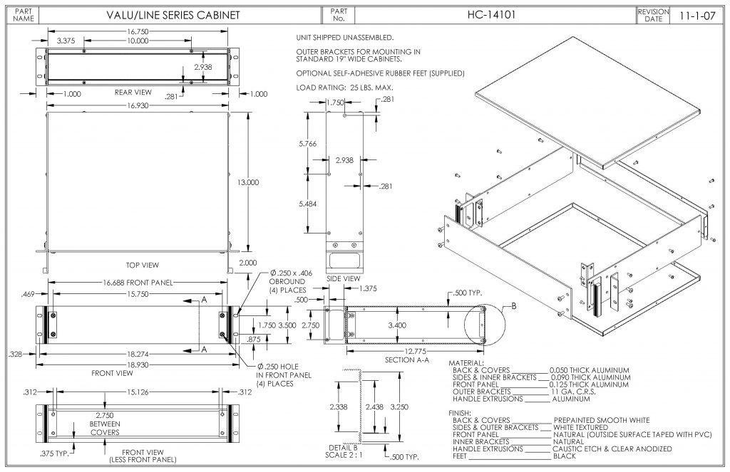HC-14101 Dimensions
