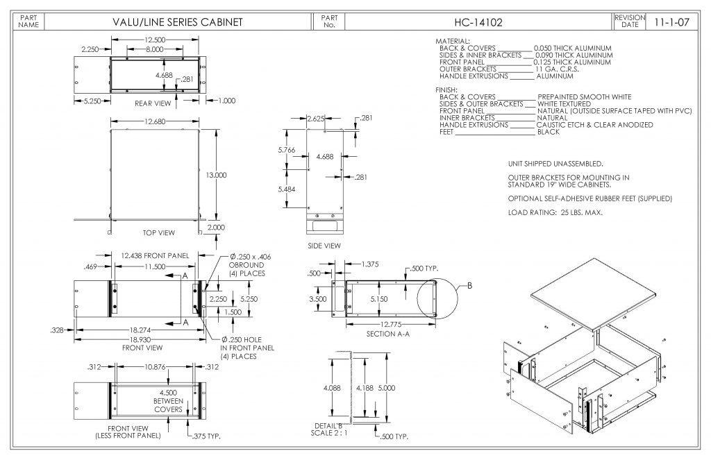 HC-14102 Dimensions