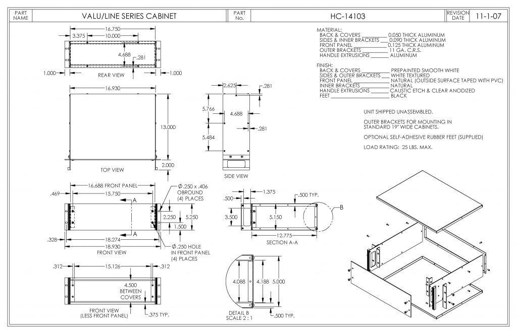 HC-14103 Dimensions
