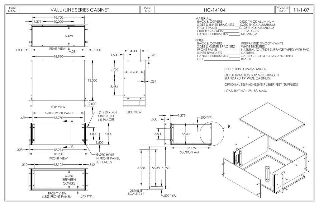 HC-14104 Dimensions