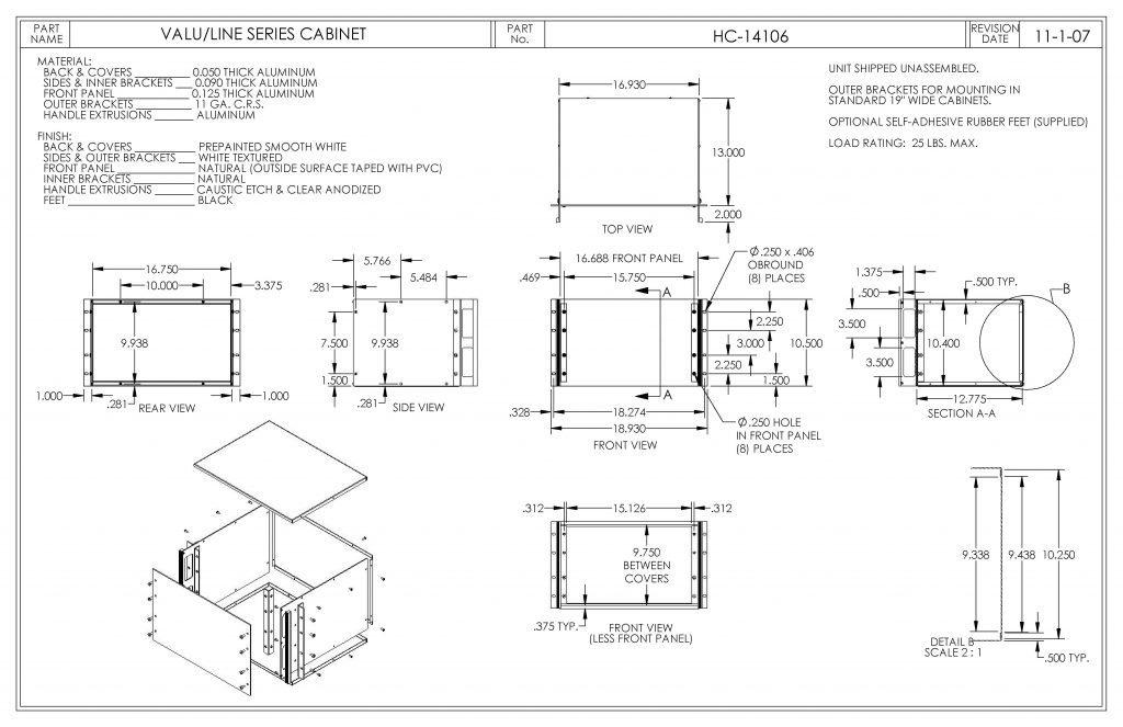 HC-14106 Dimensions