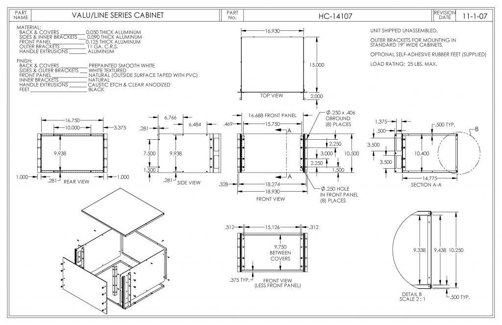 HC-14107 Dimensions