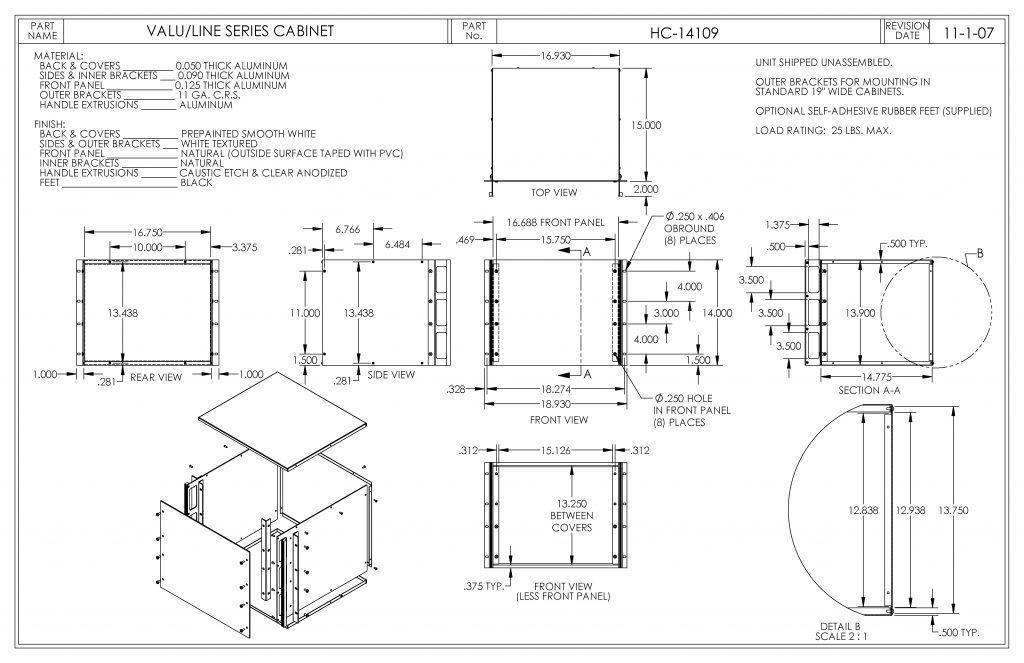 HC-14109 Dimensions