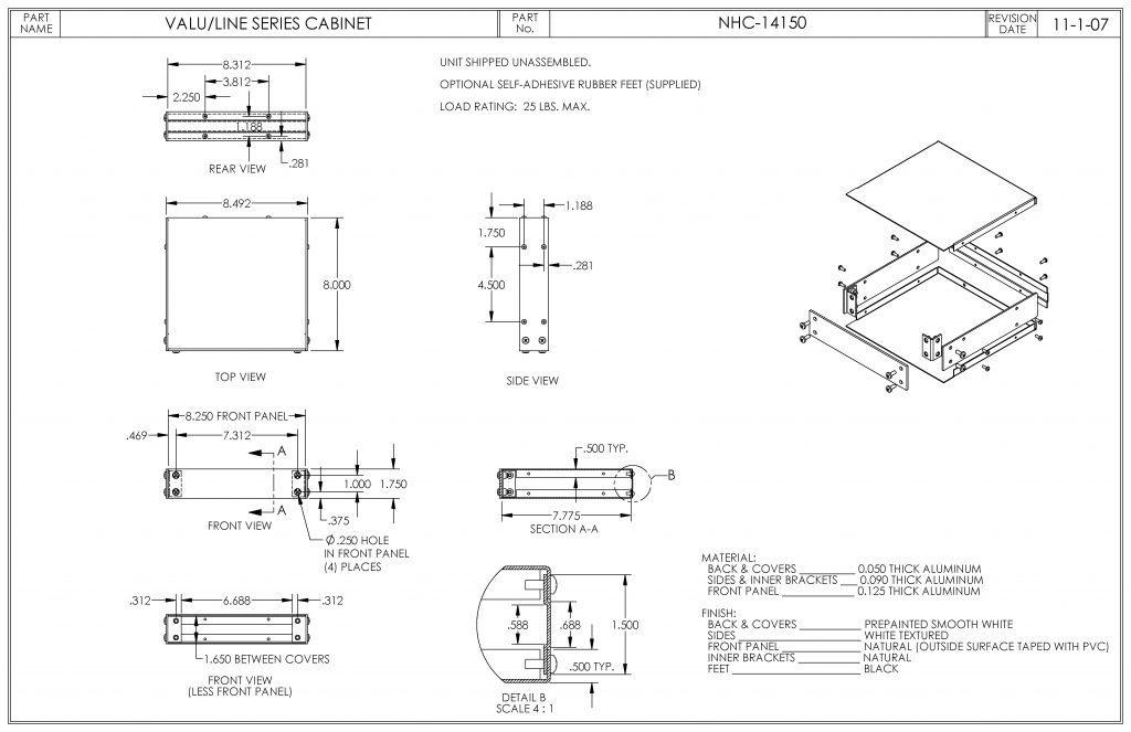 NHC-14150 Dimensions