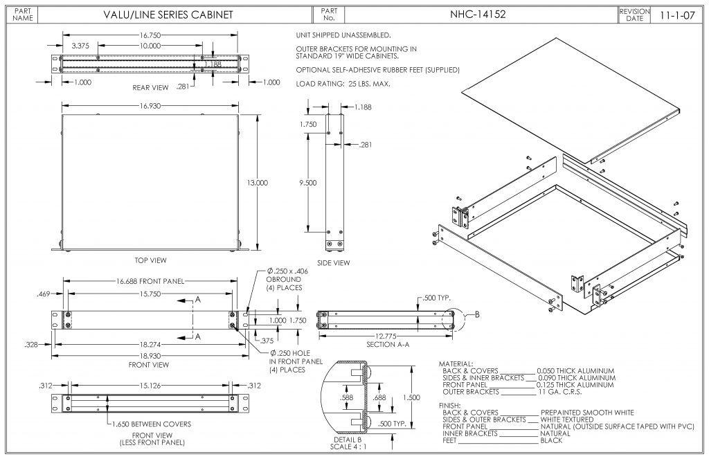 NHC-14152 Dimensions