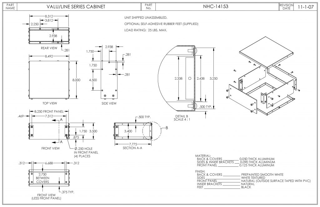 NHC-14153 Dimensions