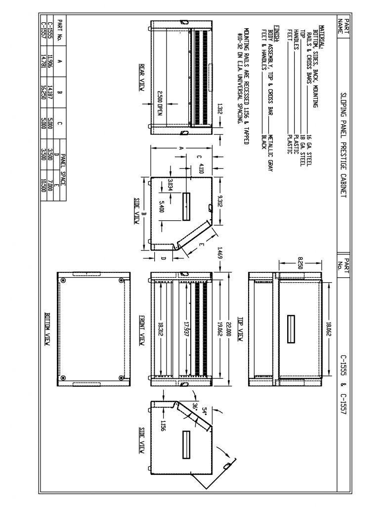 C-1555 Dimensions