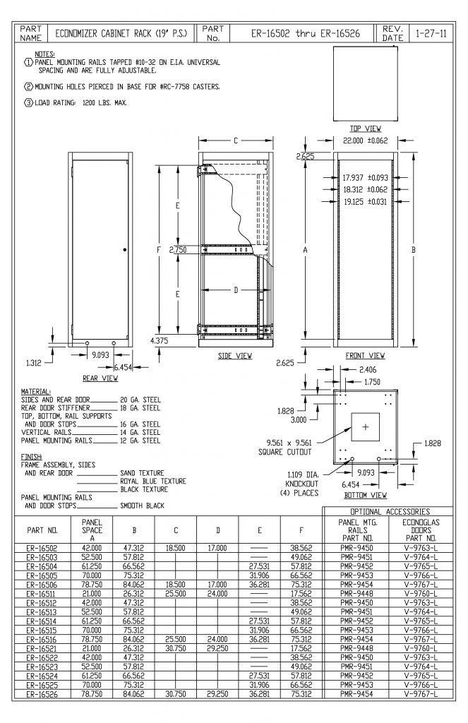 ER-16502-S Dimensions