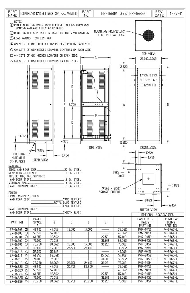 ER-16623-S Dimensions
