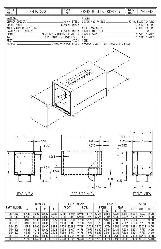 BB-1809-BT Dimensions