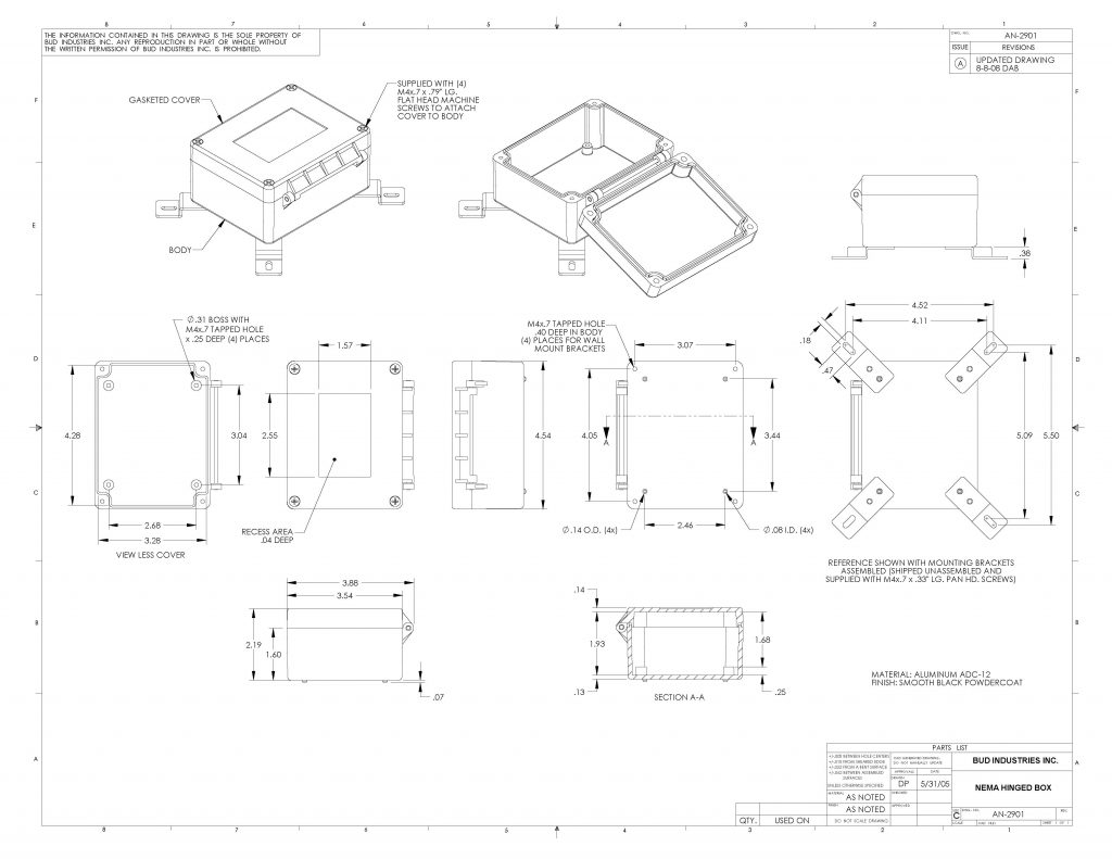 AN-2901 Dimensions
