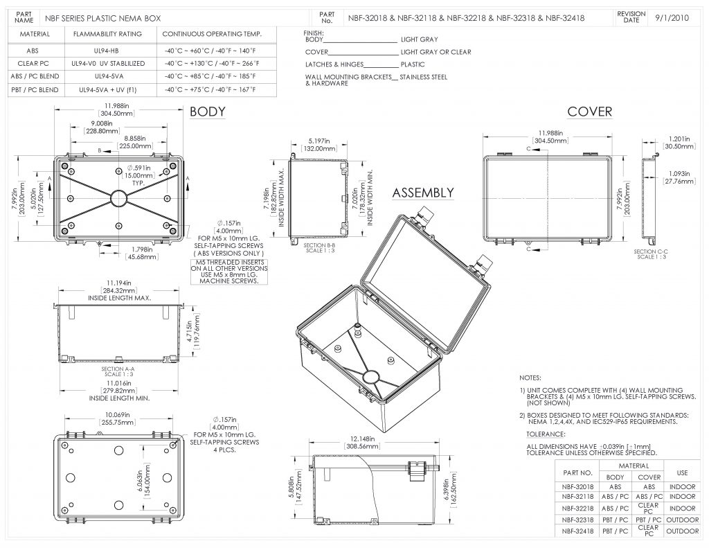 NBF-32018 Dimensions