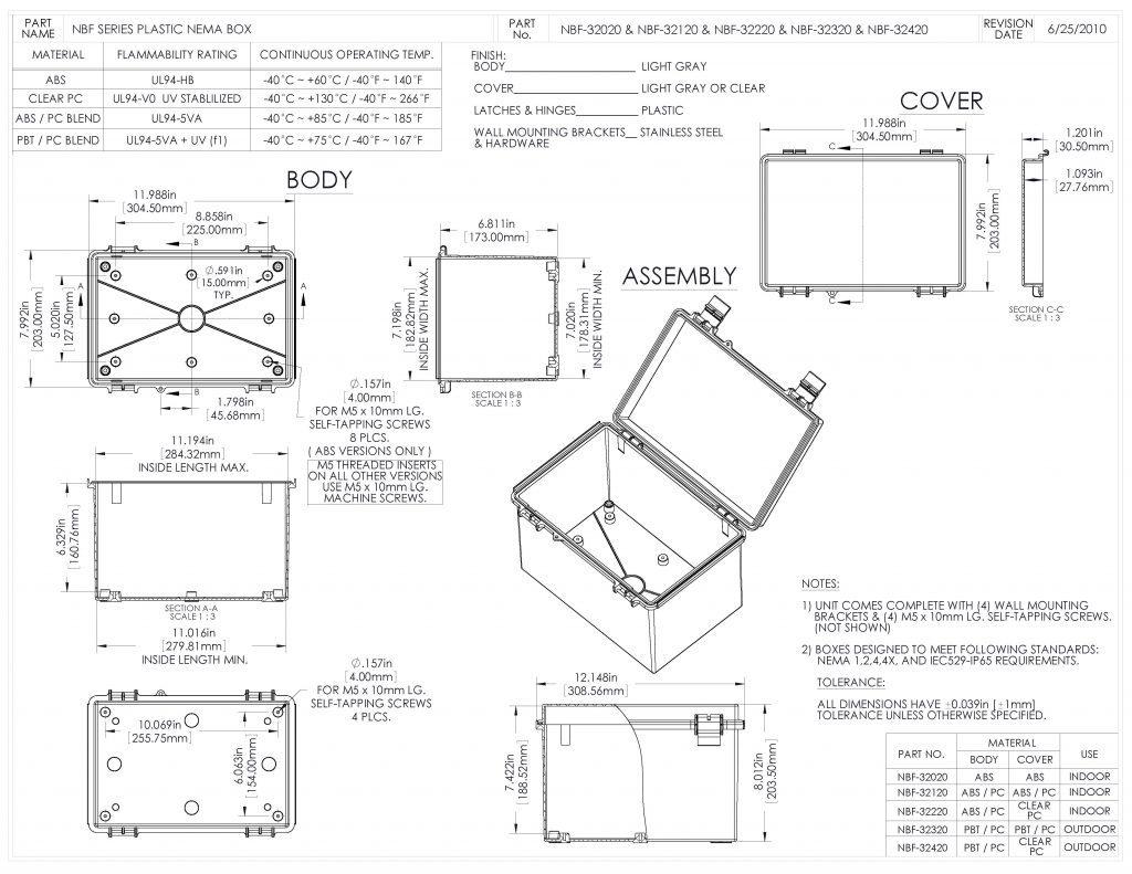 NBF-32320 Dimensions