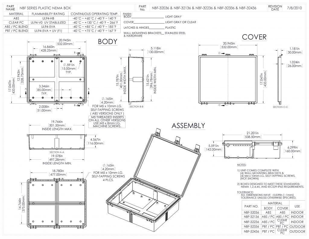 NBF-32136 Dimensions