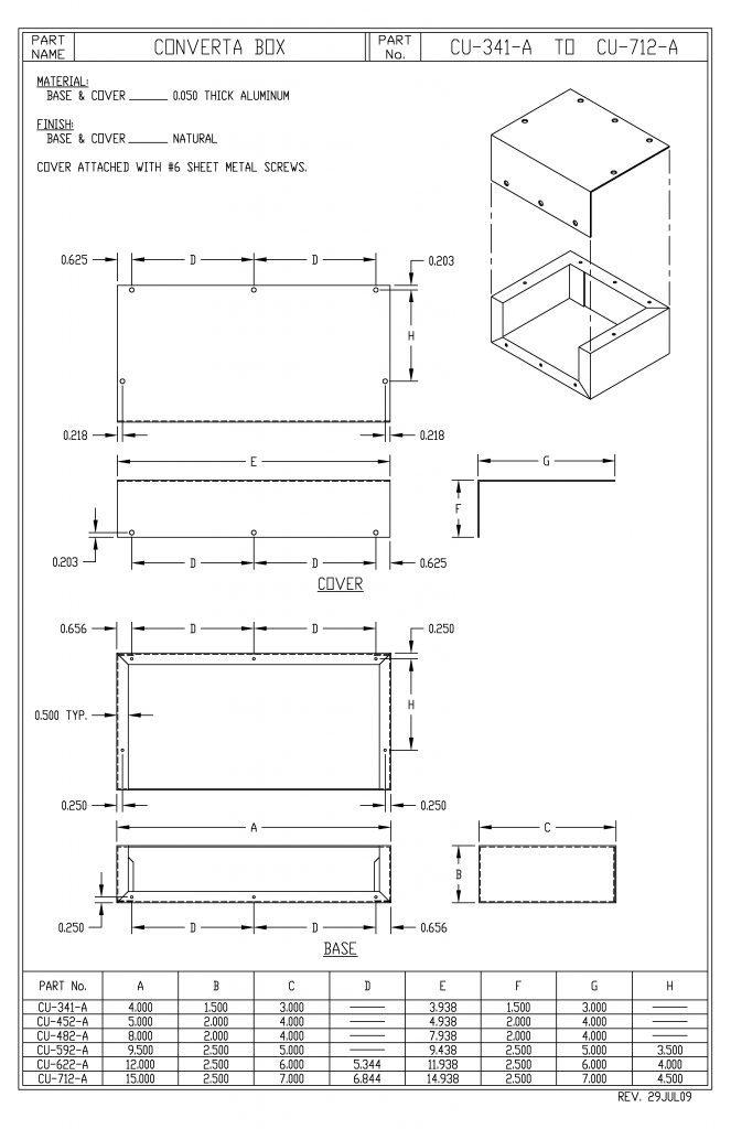 CU-482-A Dimensions