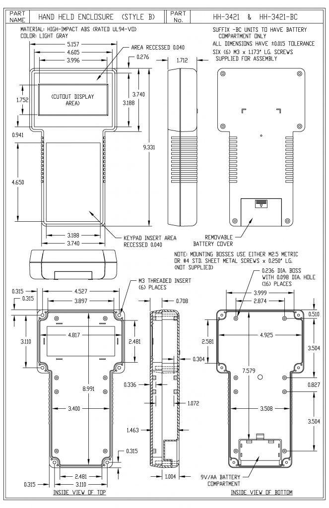 HH-3421 Dimensions