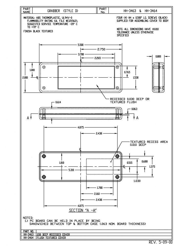 HH-3643 Dimensions