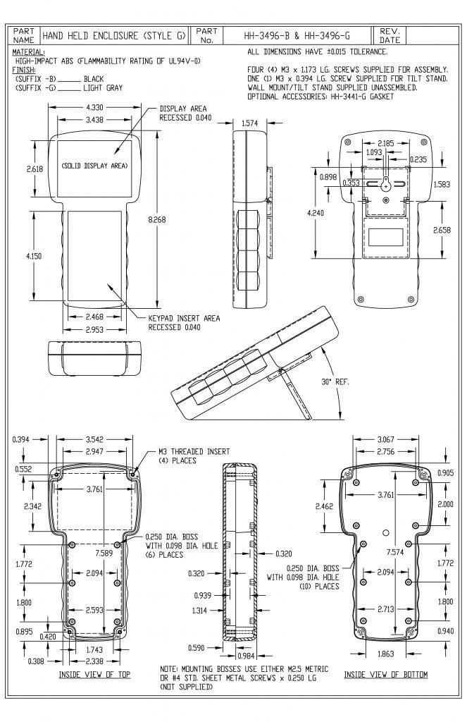 HH-3496-B Dimensions