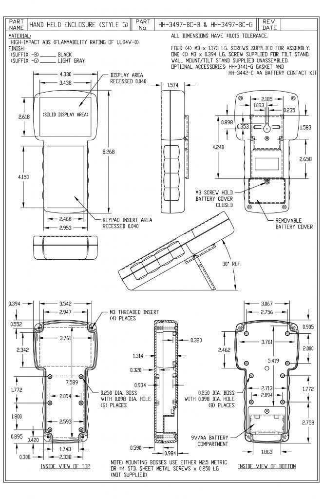 HH-3497-BCG Dimensions