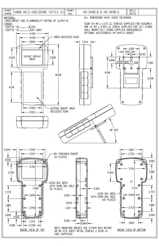 HH-3498-B Dimensions