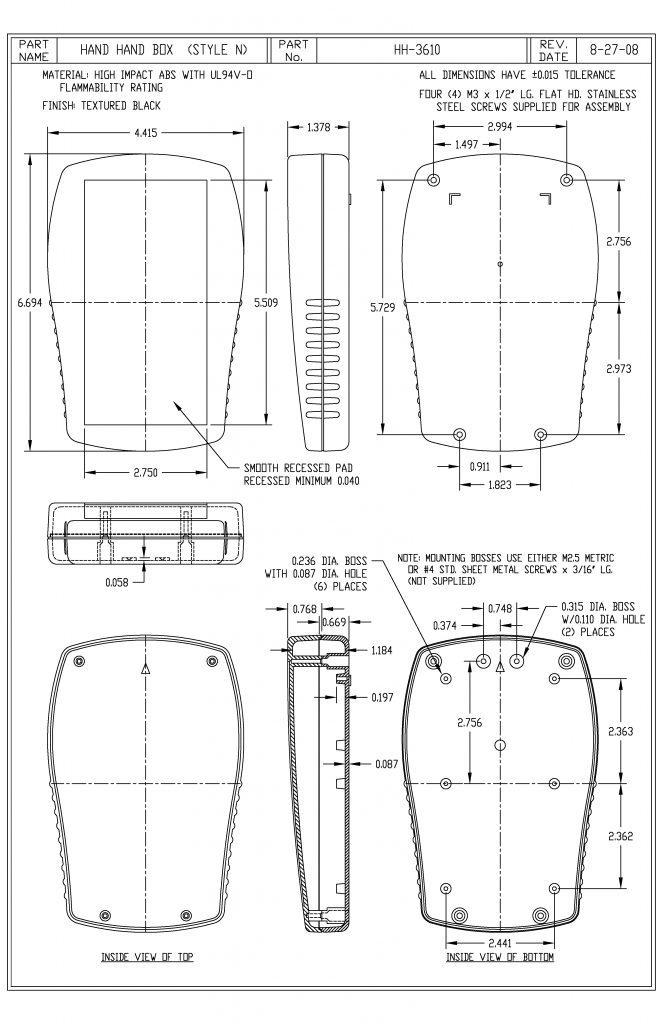 HH-3610-B Dimensions