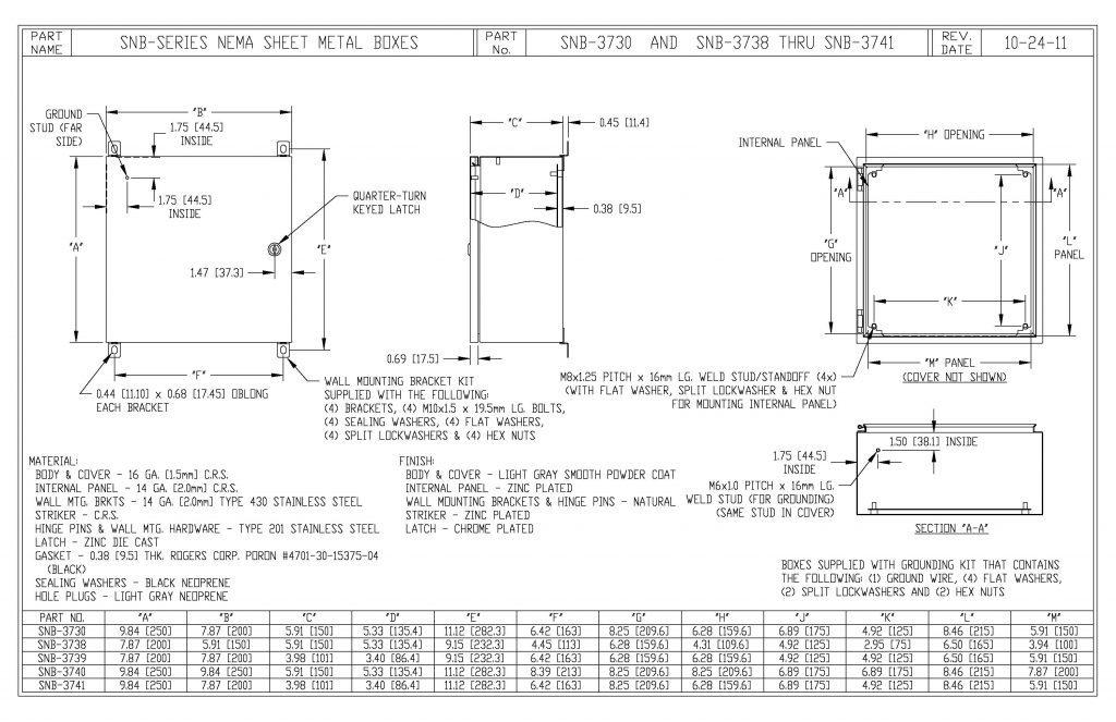 SNB-3730 Dimensions
