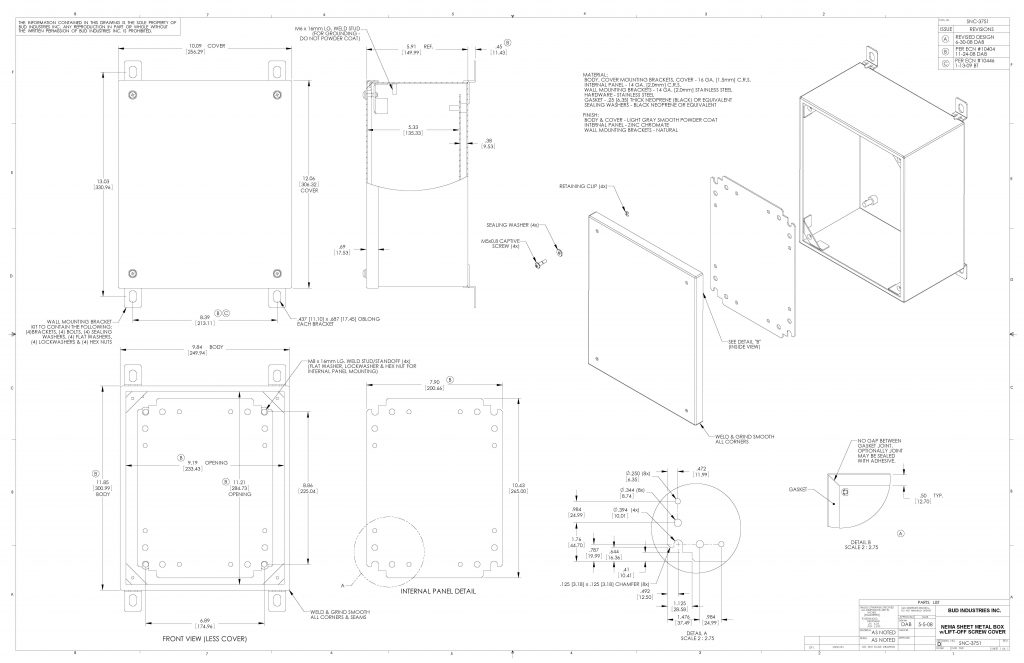SNB-3751 Dimensions