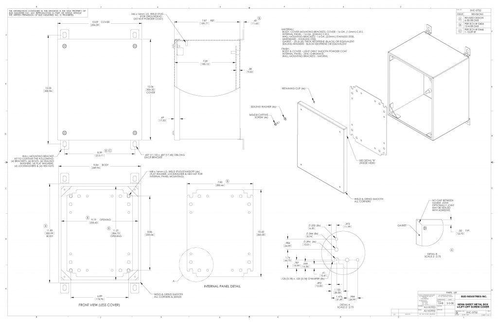 SNC-3752 Dimensions