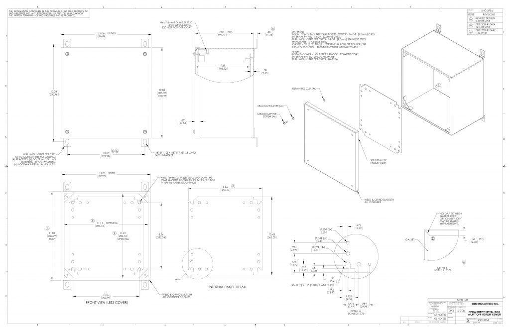 SNC-3754 Dimensions
