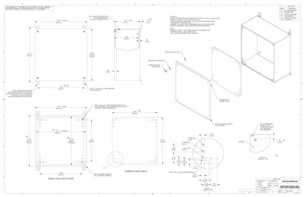 SNC-3757 Dimensions
