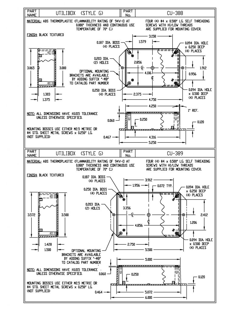CU-388 Dimensions