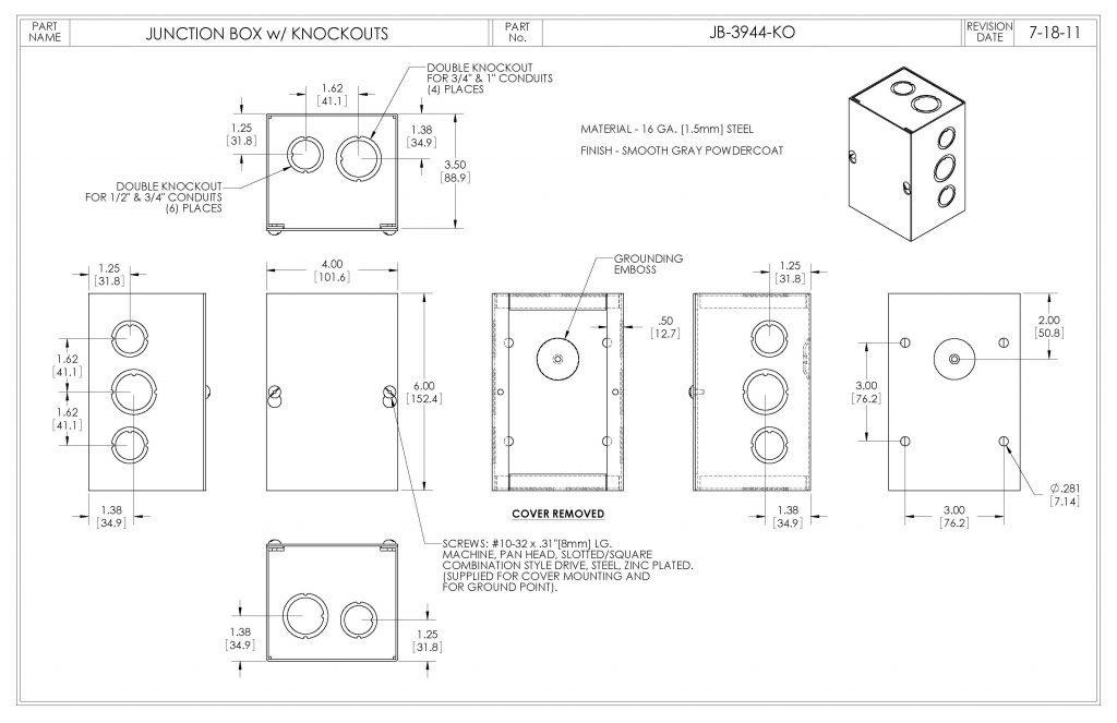 JB-3944-KO Dimensions