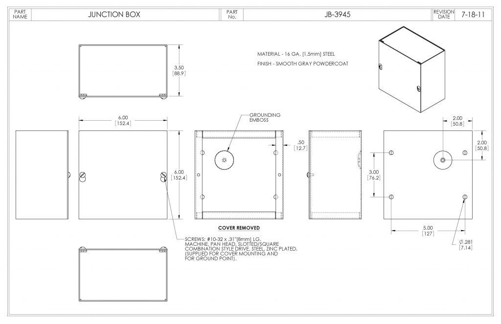 JB-3945 Dimensions