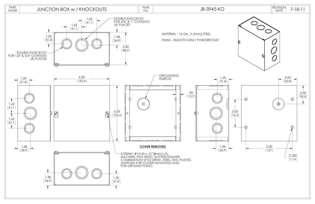 JB-3945-KO Dimensions