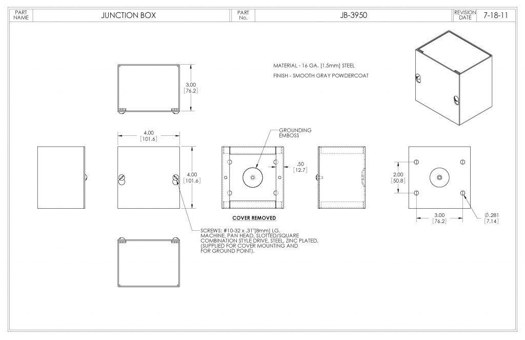 JB-3950 Dimensions