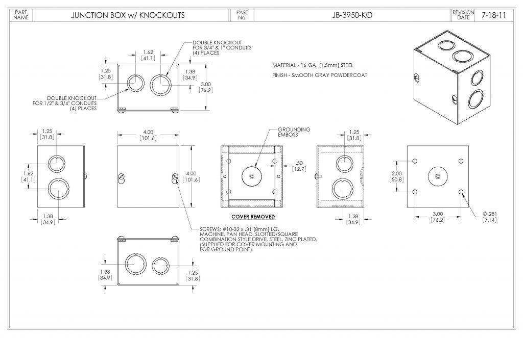 JB-3950-KO Dimensions