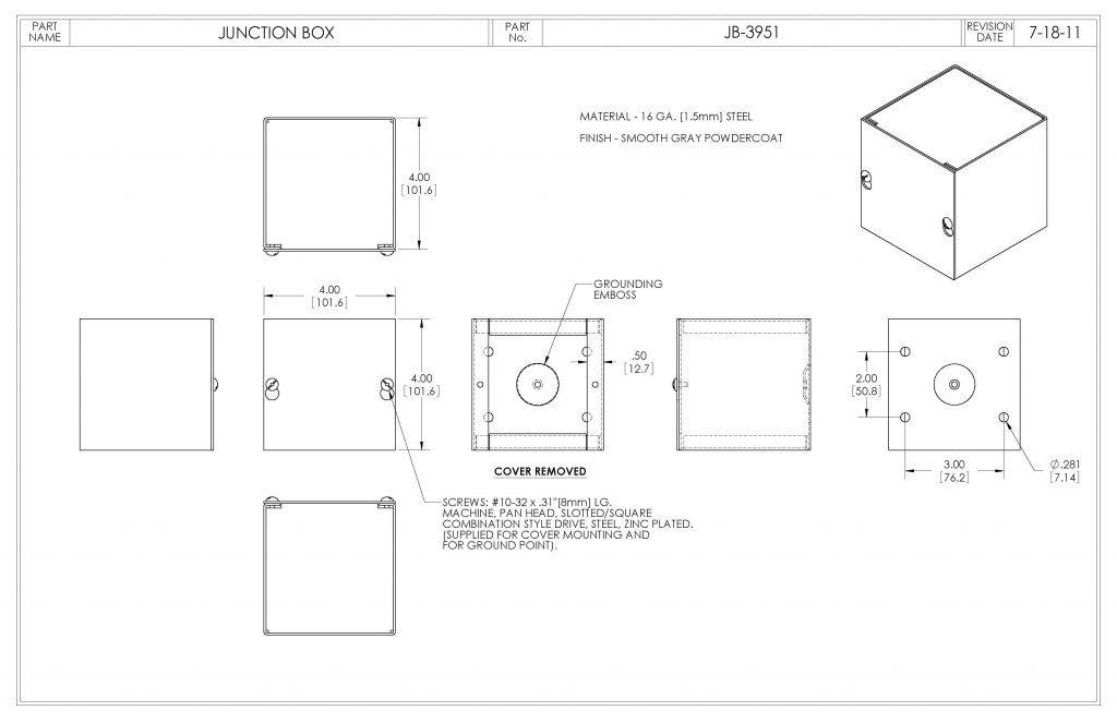 JB-3951 Dimensions