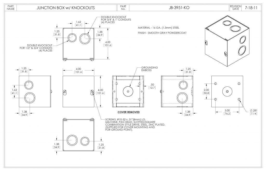JB-3951-KO Dimensions