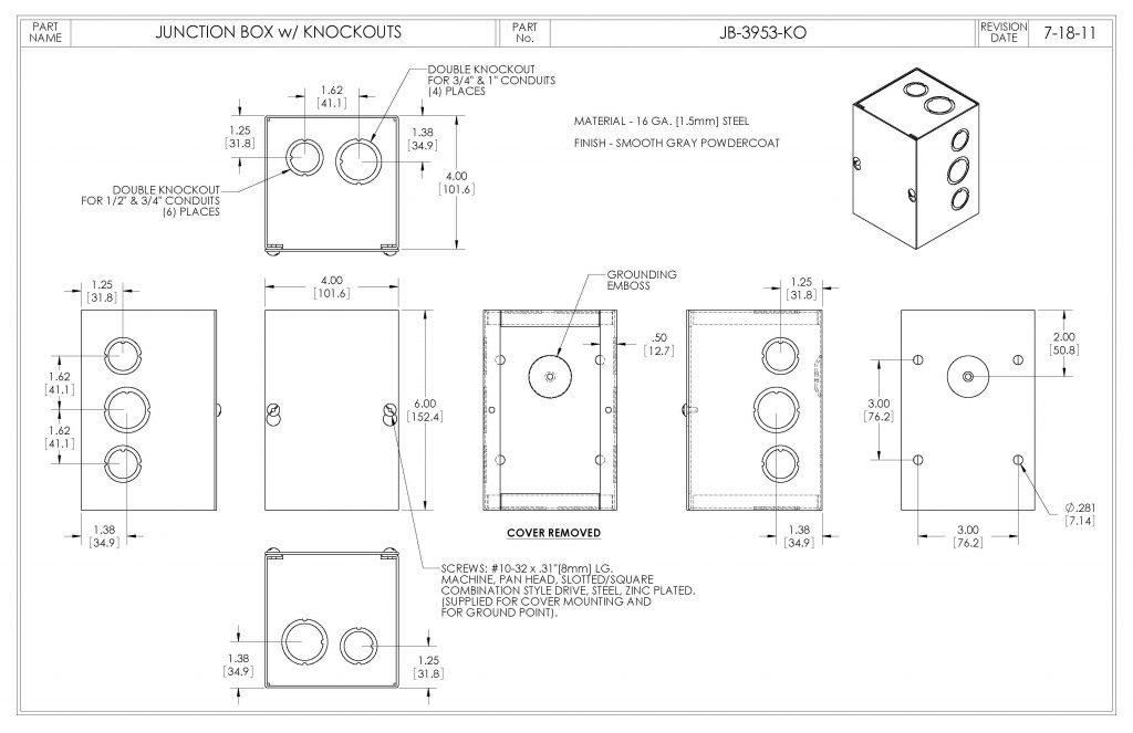 JB-3953-KO Dimensions