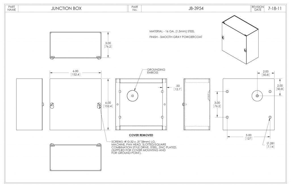 JB-3954 Dimensions