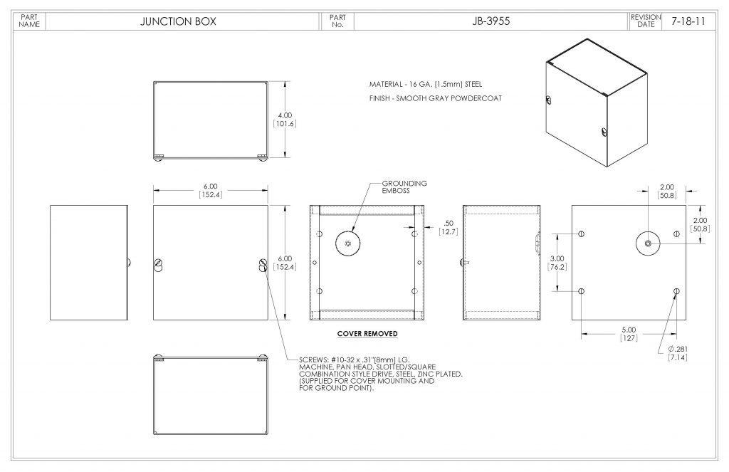 JB-3955 Dimensions