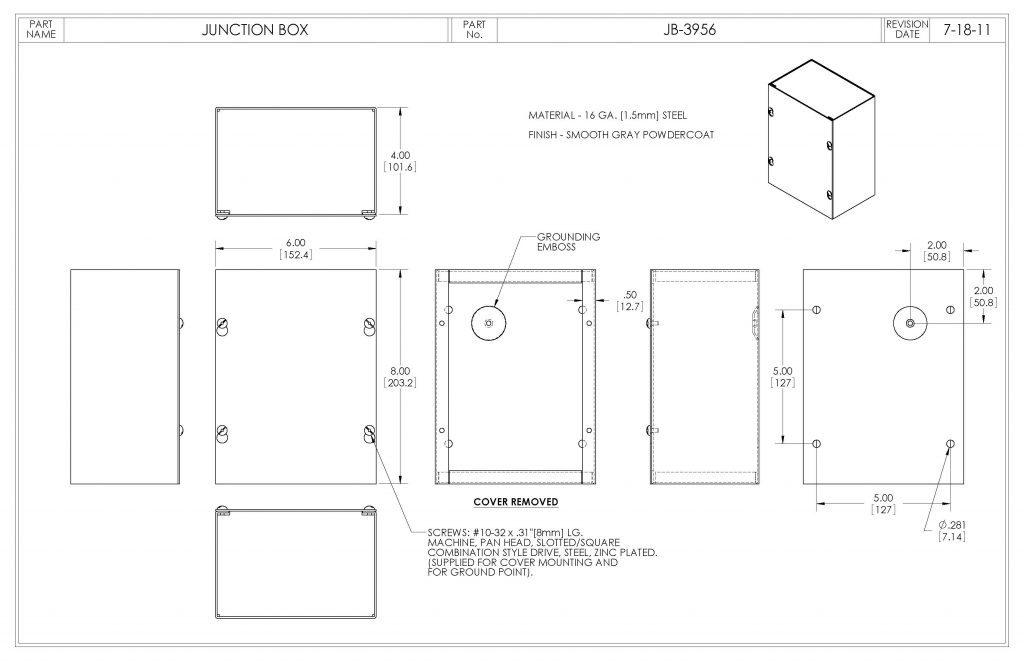 JB-3956 Dimensions