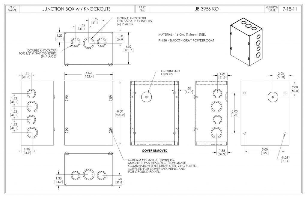 JB-3956-KO Dimensions