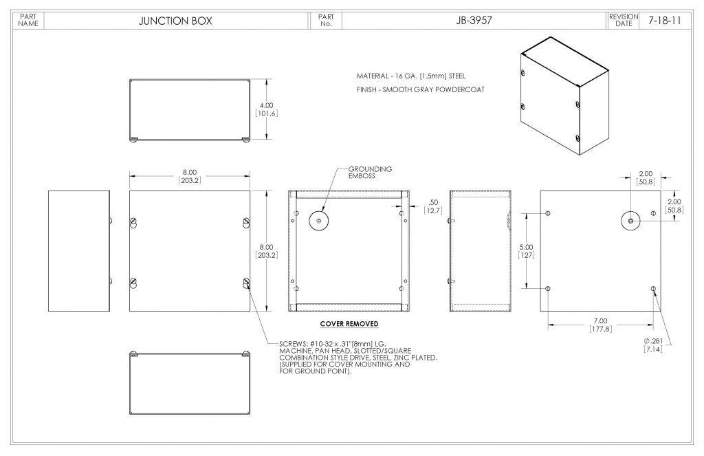 JB-3957 Dimensions