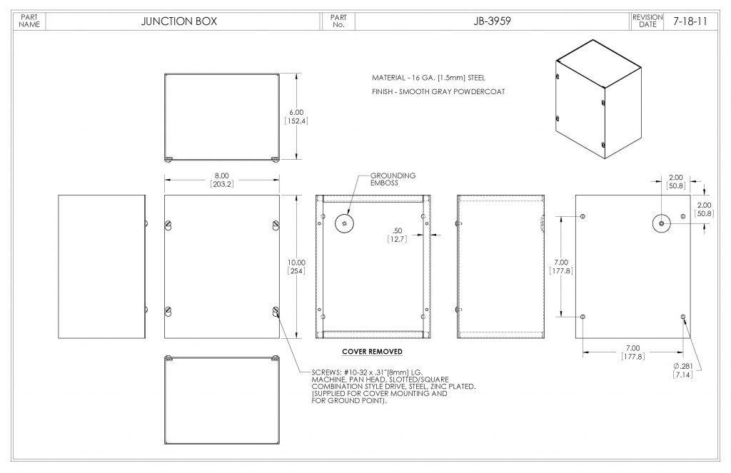 JB-3959 Dimensions