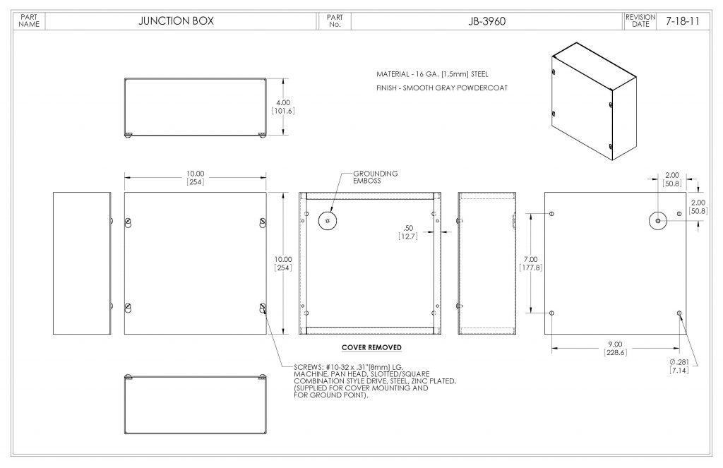 JB-3960 Dimensions