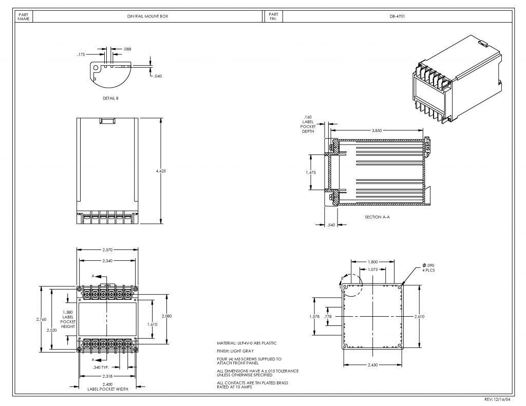 DB-4701 Dimensions